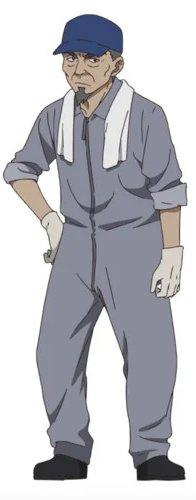 Shigeru Chiba als Leiter des Wartungsteams